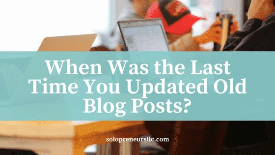 Old Blog Posts