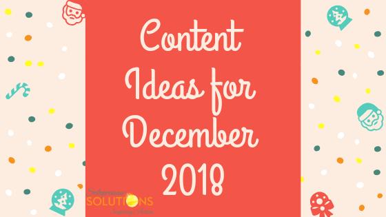 December Content Ideas