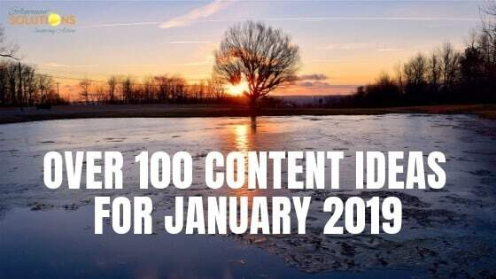 100 Content Ideas for January 2019