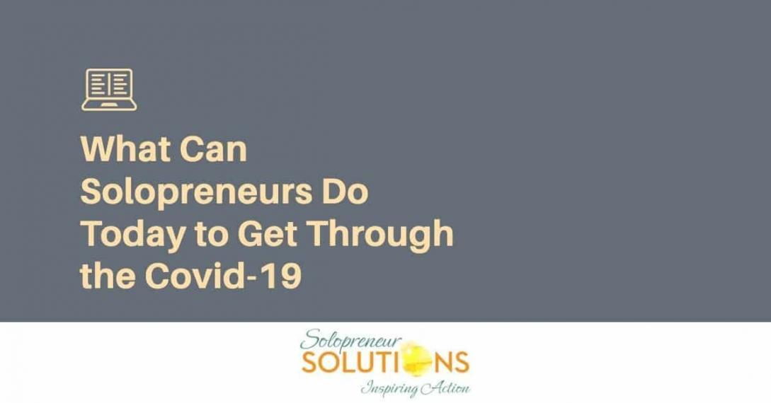solopreneurs get through Covid-19