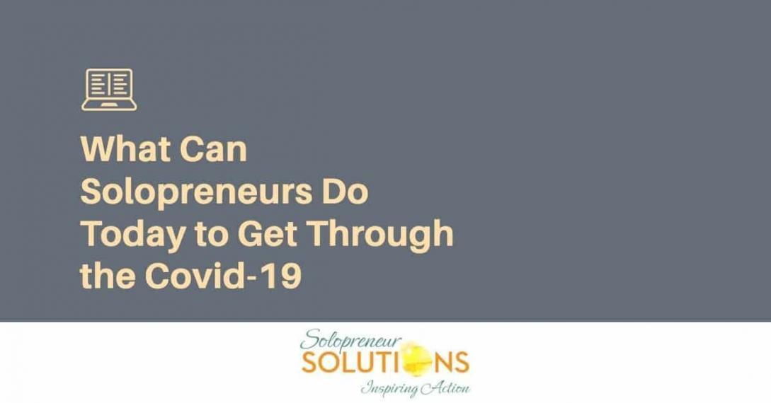 solopreneurs get through Covid-19